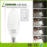 lumière de bougie du jour 5000K Dimmable DEL de 8W E12 E14 E27 B22