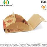 Rectángulo acanalado de la pizza de Kraft con el rectángulo de la pizza del acondicionamiento de la maneta/de los alimentos