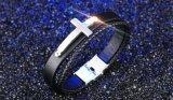 Wristband Braided Handmade dei braccialetti trasversali creativi di cuoio maschii freddi dell'acciaio inossidabile della roccia punk per gli uomini Pulseira Masculina Couro