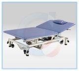 Rehabilitation-Produkt elektrische Multi-Karosserie-Position faltbares anhebendes Pint-Trainings-Tisch-Behandlung-Bett mit justierbaren anhebenden Rädern