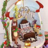 Casa de Muñecas Juguetes de madera en miniatura con 2018 Feliz año nuevo regalo