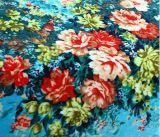 Warme weiche Blume druckte Polyester-Flanell-Vlies-Zudecke 100%