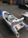 Liya 5.8m costilla inflable barco pesquero con motores fuera borda