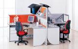 Modular L 4 places Station de travail de bureau profilé en aluminium Partition (SZ-WST808)
