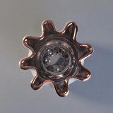 Sostenedor de vela de cerámica de la dimensión de una variable de lujo de la flor para usted