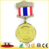 Medaglia del metallo dell'oro con il nastro