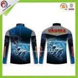 Tournoi de pêche des chemises de gros de la pêche par Sublimation maillot personnalisé
