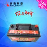 Solar de Alta Potencia de la batería del vehículo eléctrico 75D23 Batería de plomo ácido recargar la batería 12V60Ah