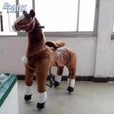 Детский взрослый новых фаршированные игрушка на колесе Механические узлы и агрегаты лошадь