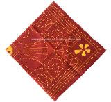 Пестрый платок хлопка дюйма 22*22 продукции OEM фабрики изготовленный на заказ белым напечатанный логосом красный