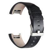 Cinghia classica del rimontaggio della vigilanza del cuoio genuino, per le fasce della carica 2 di Fitbit