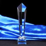 Premio del trofeo di cristallo della fiamma con la coda biforcata gialla