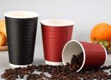 Пользовательский логотип для печати одноразовые двойные стенки колебания бумаги с чашки кофе пластмассовых крышек для напитков