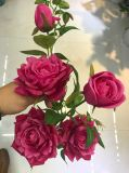 결혼식 홈 훈장을%s 꽃다발이 실제적인 접촉에 의하여 인공적인 로즈 꽃이 핀다