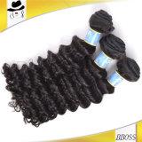 10une vague profonde brésilien cheveu humain, extension de cheveux