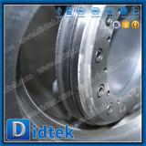 A extensão opcional da haste de Didtek flangeou válvula de borboleta do aço inoxidável
