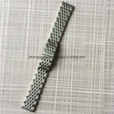 Whole Brushed Silver Two-Ton Solid Stainless Steel Watch Band