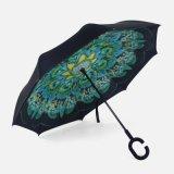 Omgekeerde & Omgekeerde Paraplu, Paraplu van de Regen van de Auto van het Golf van de Reclame de Openlucht, de WindParaplu van de Reis, de Paraplu van de Reclame van het Golf