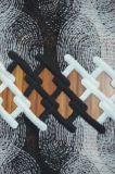 Tela nova do laço do poliéster do estilo com teste padrão elegante do bordado