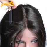 Le produit chimique libèrent perruque de lacet de cheveu d'Indien de 100% la pleine