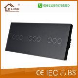 Командный выключатель касания панели 3gang 2way EU/UK стандартный стеклянный дистанционный