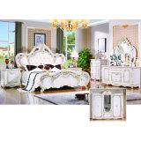 Классицистический комплект спальни с античными кроватью и шкафом (W815A)