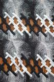 Novo Estilo de rendas de poliéster com elegante estrutura padrão de bordar