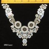 шнурок ворота золота 33*30cm связанный цветком для повелительницы Кофточки Одевать Hme925