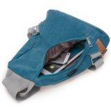 Lave o galpão de lona Double-Shouldered vintage jovem rapariga Saco de lona mochila Bag