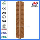 Obturadores de madeira para deslizar a porta de dobradura interior feita sob encomenda moldada HDF