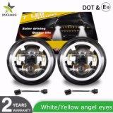 IP68 DOT High Low Beam Angel Eye Car Driving Light를 위한 12 24V 75W Sealed Beam 7 Inch Auto Jeep Round LED Headlight