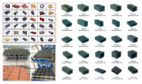 Matériaux de construction de machines D6-15Qt, machine à briques de couleur automatique Finisseur de béton Prix machine à fabriquer des blocs
