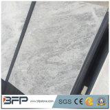 対処の舗装のためののみによってブラシをかけられる終わりのタイルが付いている灰色および白い大理石