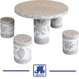 정원 훈장을%s 자연적인 돌 화강암 대리석 테이블 그리고 의자