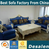 Feria de Canton China muebles Hotel New Classic sofá de cuero (004-2)