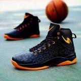 Belles chaussures de sport du basket-ball d'hommes extérieurs de couleur de qualité, premiers hommes élevés de chaussures de basket-ball d'entraîneurs