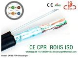 Câble de réseau du câble LAN de ftp CAT6 23AWG de câble de transmission CPR