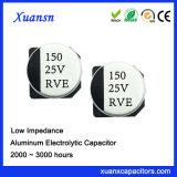 condensador de alta frecuencia de la alta estabilidad SMD de 150UF 25V