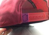 Chapéu do Snapback do painel do costume 5 do tampão do Snapback do bordado da alta qualidade 3D