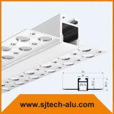 플랜지에 구멍을%s 가진 돌담을%s 플랜지를 가진 중단된 알루미늄 LED 단면도