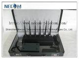 Emittente di disturbo del cellulare +GPS+Lojack dell'antenna 2g/3G/4G del Portable 6, con il caricatore dell'automobile e la batteria ricaricabile