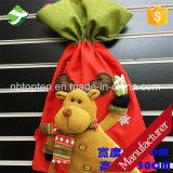 クリスマス・パーティの装飾のギフトは甘いキャンデーXmasのストッキングのハンドバッグを袋に入れる