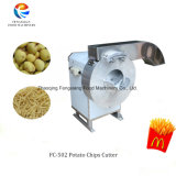 Prix d'usine de puces, les racines de puces de la faucheuse Machine de découpe, pomme de terre frites de coupe avec la machine en acier inoxydable de la faucheuse