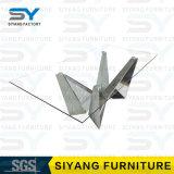 Vector de cena de cristal del vector del acero inoxidable de los muebles para 6 Seater