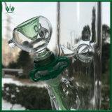 17 pulgadas estilo Illadelph Verde 60x5mm Cristal Tubo Tubo de agua con cuencos de narguiles tubo recto Downstel