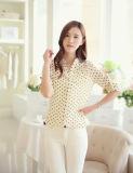 Втулки рубашки кофточки женщин рубашка неторопливой длинней шифоновая для женщин