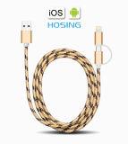 câble de caractéristiques 4FT en nylon de 1.2m pour le chargeur de synchro de pouvoir de caractéristiques d'iPhone de Samsung