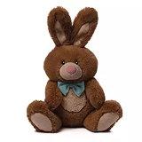 Coelho de coelho enchido luxuoso de Easter com fita