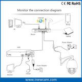 Enfoque automático Varifocal de 4MP de la red de cámaras IP CCTV PTZ