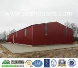 緑材料が付いているPrefabriatedの鉄骨構造のガレージのための商業建物